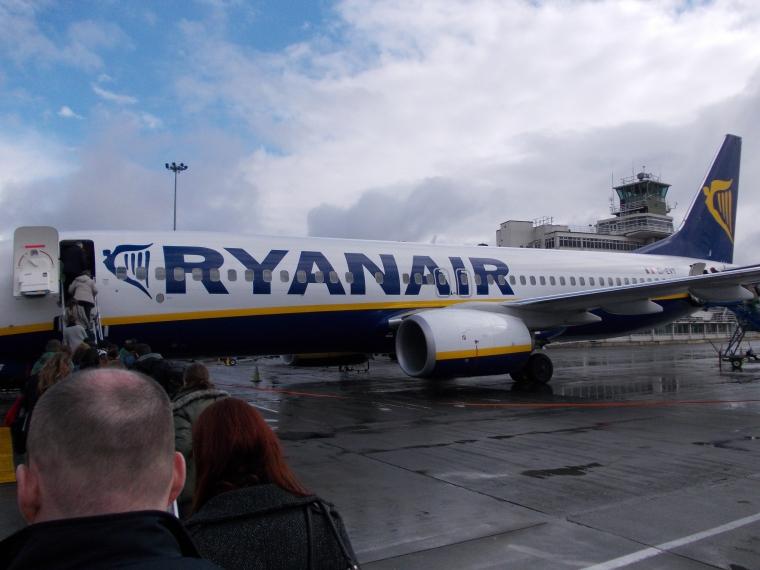 Ryanair plane in Dublin, Ireland.