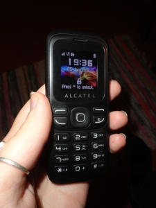 Enjoy my terrible picture! This is my phone for abroad, now I just need to remember how to text with this...
