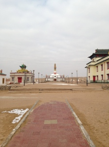 Buddhist temple in Sainshand, Mongolia. A place of considerable religious and cultural significance, it is also looking towards serious industrial development.