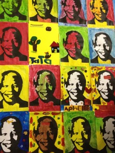 Mural put together made by Khayelitsha students.