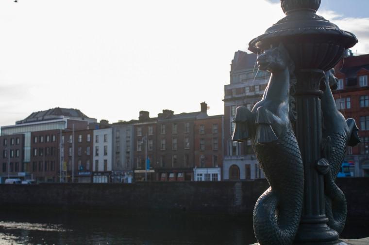 Morning on the river in Dublin