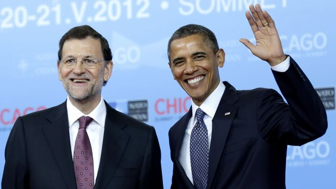 President Obama with Spanish Prime Minister Mariano Rajoy