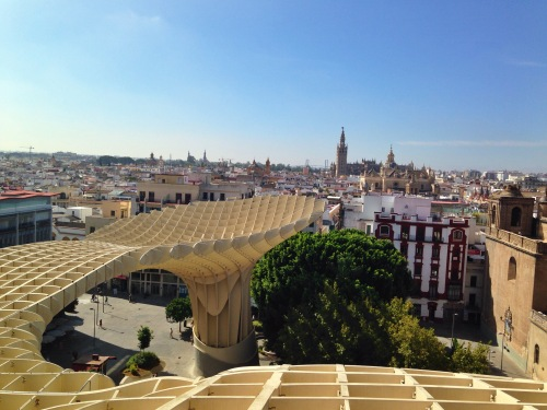 "On top of ""Las Setas"" - a beautiful view of Sevilla. One of my favorite excursions I've gone on yet!"