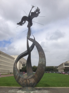 The main statue on the Université campus.