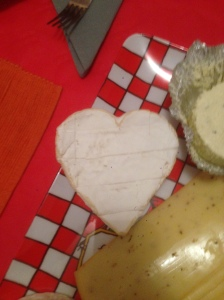 Neufchatel, a really delicious French cheese.