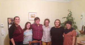 American students in Caen on Thanksgiving.