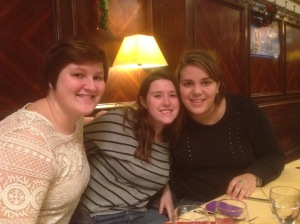 Me and two friends in Strasbourg.