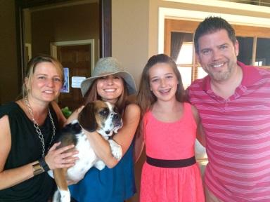 Jordan and her family